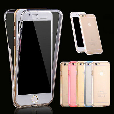 Shockproof 360° Silicone Protective Clear Case Cover For Samsung Galaxy & iPhone