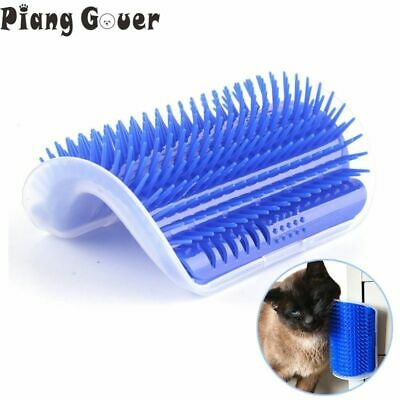 Corner Pet Brush Play Cat Toy Plastic Scratch Arch Self Grooming Cat Scratcher ()