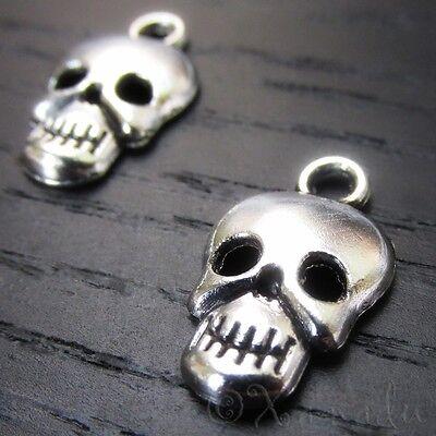 Skull Charms - Wholesale Halloween Pendant Findings C7782 - 20, 50 Or 100PCs - Halloween Charms Wholesale