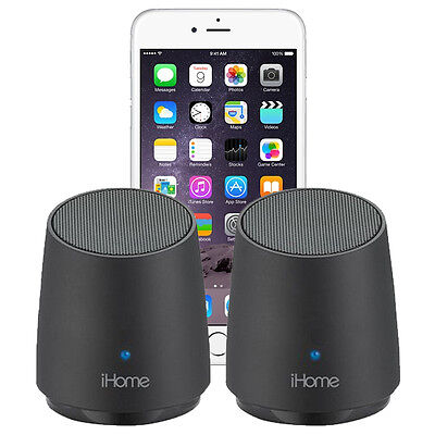 iHome iHM89 Rechargeable Mini Speakers f/ All Apple iPhone 6 5s 5c 5 4s 4 3Gs 3G (Ihome Ihm89bc)