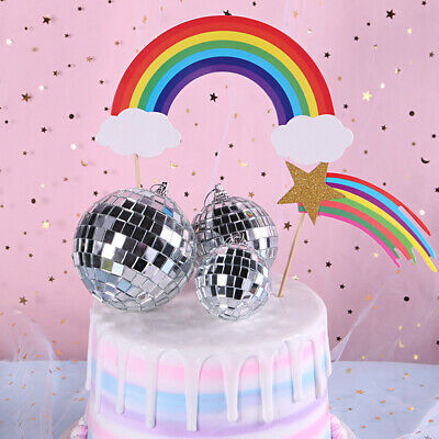 Disco Ball Cake Topper (Cake Topper Mirror Disco Ball Christmas Birthday Wedding Party Decor)