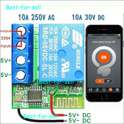 Bluetooth App Control 1ch Relay Switch Module For Access Control Motor Led Light