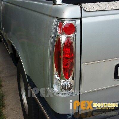 1988-1998 Chevy Silverado Suburban Tahoe GMC Yukon Chrome C/K 1500 Tail Lights