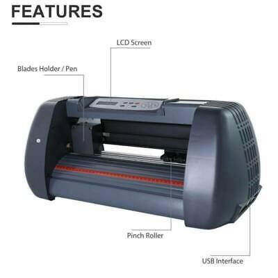 14vinyl Cutter Plotter Sign Cutting Machine Wsoftware Supplies Lcd Screen