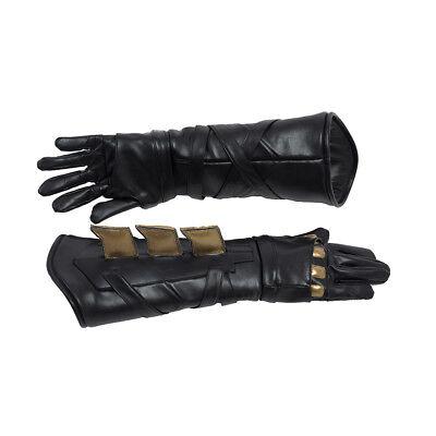 HZYM Justice League Batman Bruce Wayne Leather Gloves for Halloween cosplay
