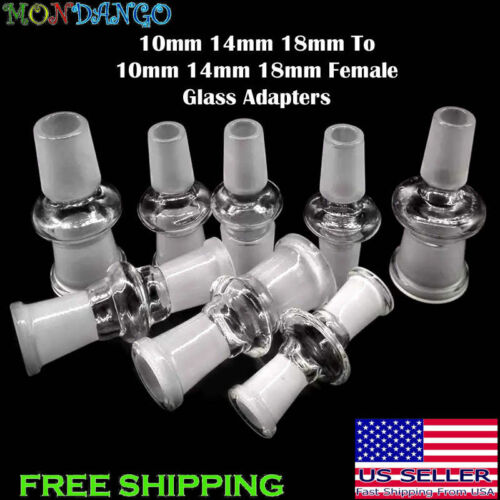 10mm 14mm 18mm Male Female Glass Adapter Joint Slide Bowl Extensions USA Seller