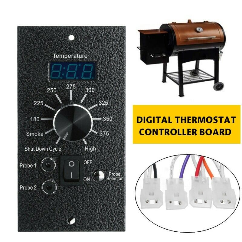 Digital Thermostat Pro Controller Board With Probes For Traeger Pellet Grill NEW