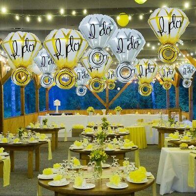 1/10pcs Diamond Ring Shape Foil Helium Balloons Engagement Wedding Party Decor](Engagement Party Balloons)