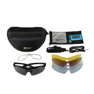 194f96a071 RockBros Cycling Outdoor Black Polarized Glasses Sunglasses Goggles 5 Lenses