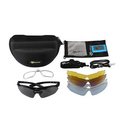 8dad1fa1bbe RockBros Cycling Outdoor Black Polarized Glasses Sunglasses Goggles 5 Lenses