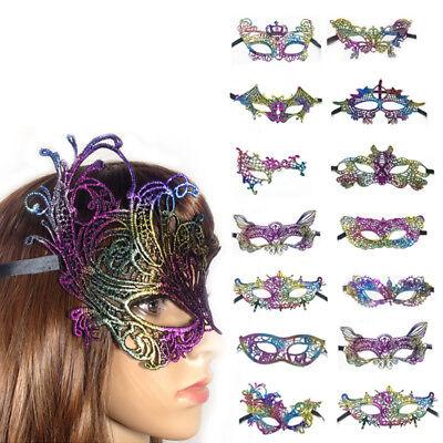 Women Ladies Sexy Lace Eye Mask Masquerade Party Halloween Christmas Decor - Decorating Halloween Masks
