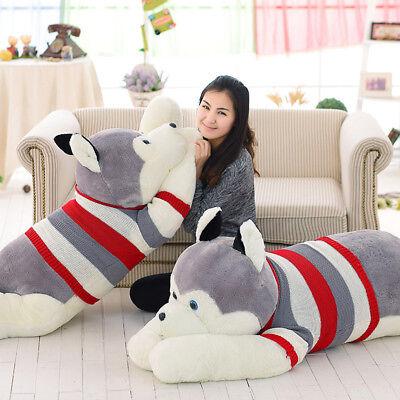 2020 Husky Dog 47'' Plush Toy Giant Big Stuffed Animal Soft Doll Party Xmas Gift