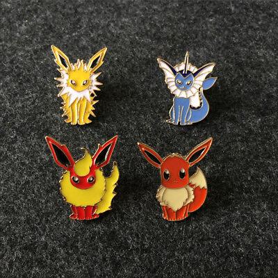 Lovely Cartoon Pokemon Brooch Pet Elf Badge Pins Gifts Women Men Girls Boys Gift - Women Elves