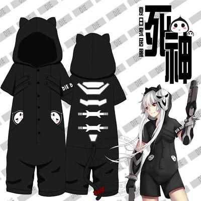 Hot Game Overwatch Reaper Kigurumi Short Sleeve Jumpsuit Pajamas Cosplay Costume