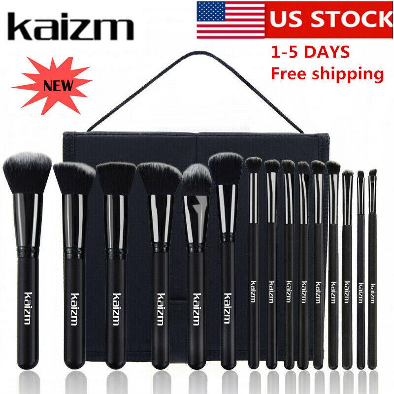 15pcs/set Professional Cosmetic Makeup Brush Foundation Brushes with Bag Case