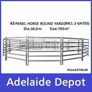30m Diameter Horse Round Yard Cattle Panel 43Pcs Incl. 2 Gate Ferryden Park Port Adelaide Area Preview