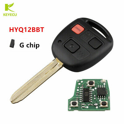 Replacement Remote Key 3Button for Toyota FJ Cruiser 2010-2014 HYQ12BBT - G Chip