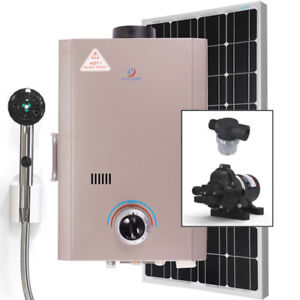 L7 Instant Hot Water Shower Kit - Propane / Solar 100 Watt