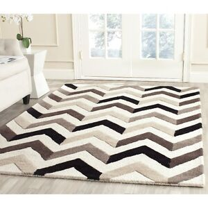 2 Hand Tufted Wool Grey Ivory Area Rugs 7'6 x 9'6 or 8x10