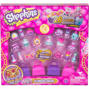 3 NEW Shopkins Glamour squad 20pk