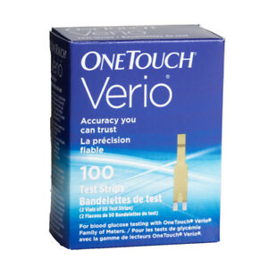 ONE TOUCH VERIO STRIPS FOR DIABETES / BLOOD SUGAR TESTING.