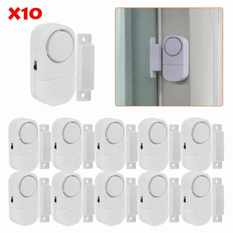 2-10 PC WIRELESS DOOR AND WINDOW ENTRY ALARM BATTERY HOME SY