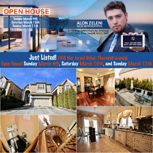 Open House 166 Ner Israel Dr 3100 sqft 4+1 Br in Thornhill woods