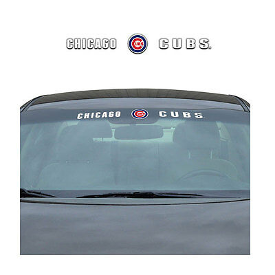 New MLB Chicago Cubs Car Truck SUV Windshield Window Vinyl Decal (Mlb Car Vinyl Decal Window)