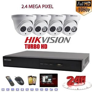Hikvision 4K HD Cctv Security Camera  100% Hidden Wiring