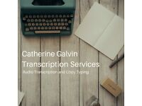 Transcription Services - Audio and copy typing