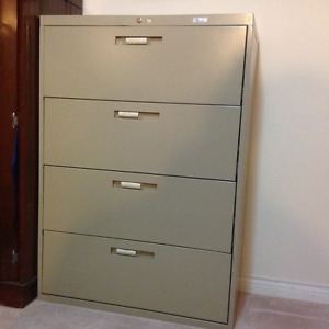 Filing Cabinet -Lateral - 4 Drawer legal file size with lock/key