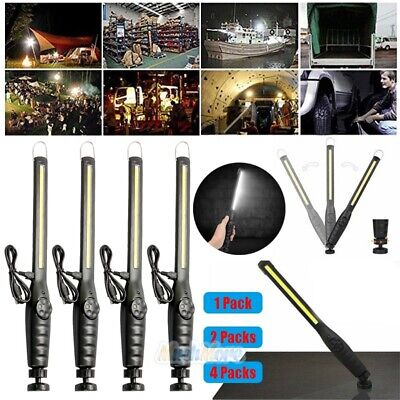 4Pack Rechargeable COB 40-LED Work Light Lamp Flashlight Inspect Hand Torch USA