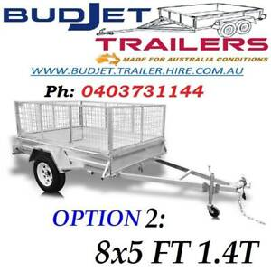 TRAILER HIRE RENTAL BRISBANE QLD 9 x 5 FT 1.4t CAGED FROM $70 P/D  THI