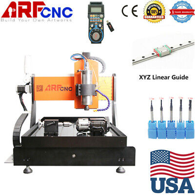 4 Axis Mach3 6040 Cnc Router Engraver Drill Milling Machine Wood Art 2.2kw Vdf