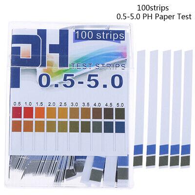 100ph Indicator Test Strips 0.5-5.0 Paper Litmus Tester Laboratory Urinesal G3