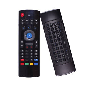 MX3 wireless air mouse with keyboard for Android TV bos