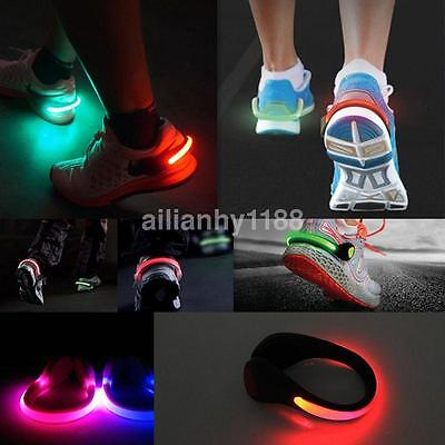 Glowing Reflectors Night Safety LED Flash Lights Shoes Clips for Running - Led Shoe Lights