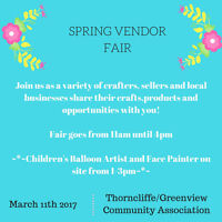 ~*~Swing into Spring Vendor Fair~Thorncliffe Community Assoc.~*~