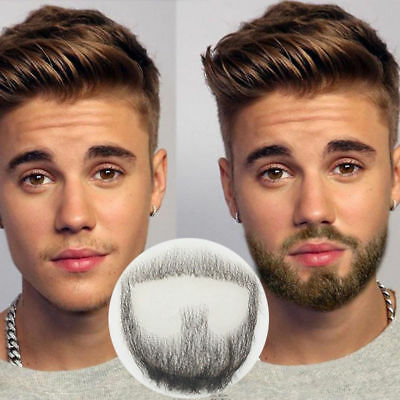 Man Makeup Fake Beard Human Facial Hair Promote Mustache Halloween Cosplay - Halloween Man Makeup