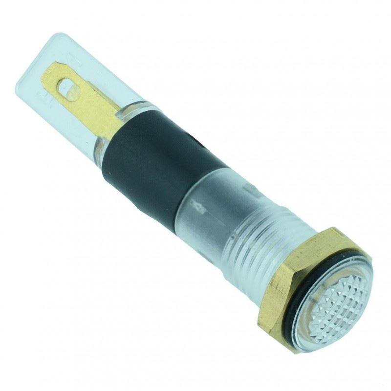 5 x White LED 8mm Panel Indicator 220V