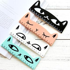 Precioso-Forma-De-Gato-Gatito-Animal-gobernante-regla-recta-para-ninos-utiles-escolares