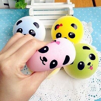 1 pc Random JUMBO COLORED PANDA Squishy cell phone charm toy SOFT CUTE