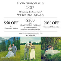 $300 OFF Professional Wedding Photography Coverage