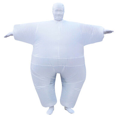 Adult Inflatable Fancy Chub Costume Halloween Party Fat Suit Dress White](Chub Suit Halloween)