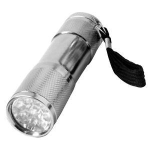 LED / Taschenlampe /Camping / 9 Led,s /Alukörper mit Kordel / Standort DE
