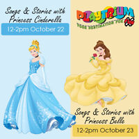 Come to Playtrium and meet Cinderella & Belle