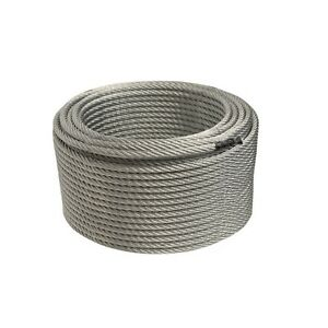 ALEKO Steel Cable 1/4 Inch 7X19 Galvanized Aircraft Wire Rope 250 Feet