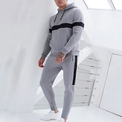 Mens Hoodie Tops Trousers Pants Tracksuit Sweatsuit Set Jumpsuit Joggers Gym
