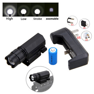 Zoom Focus XPG-Q5 LED Taktisch Weaver Picatinny Gewehr Taschenlampe Mount Jagd  ()