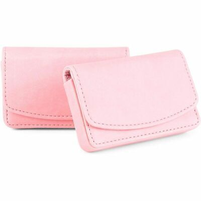 Pink Magnetic Business Card Holder For Women 2 Pack